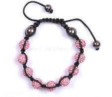 Bulk Price! HOT Handmade (10MM*1pcs Czech Crystal BEADS) Disco Balls Bracelets