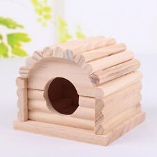 Hamster Gerbil Dutch Pig Wood House Cage Playhouse Nest Rest Bedroom Detachable
