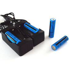 4x UltraFire 18650 Battery Charger +2x 18650 Battery Double US Plug Charger US