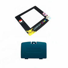 New TEAL Game Boy Color Battery Cover + Pokemon Jigglypuff Screen GBC