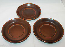 Wedgwood Sterling Brown 3 Saucers Only Made in England Oven to Stove AS-IS