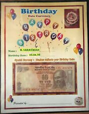 BIRTH DAY NOTE - TEN RUPEE NOTE NUMBER REFLECT ON UR BIRTH DAY-RARE,UNIQUE & UNC
