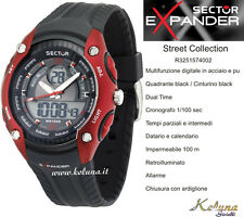Orologio Sector Expander Street R3251574002 -89- Dual Time- 10Atm- Crono Digital