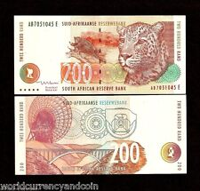 SOUTH AFRICA 200 RAND 127B 1999 *AB*LEOPARD DISH ANTENA WORLD CURRENCY BILL NOTE