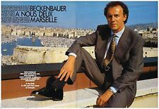 Coupure de presse Clipping 1990 (6 pages) Franz Beckenbauer à Marseille OM