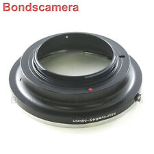 Mamiya 645 lens M645 Mount to Nikon F mount Camera Adapter D4 D800 D7100 D5200