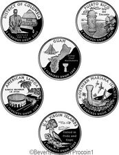 2009 Quarters Territories 12 coin set Denver and Philadelphia