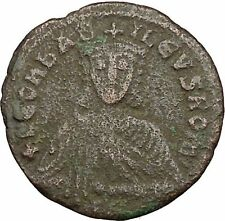Leo VI, the Wise w purple silk roll 886AD Ancient Medieval Byzantine Coin i39431