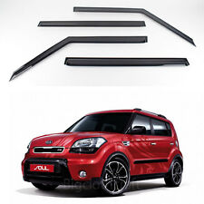 New Smoke Window Vent Visors Rain Guards for Kia Soul 2010 - 2012