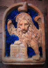 Bassorilievo leone San Marco del Doge terracotta e vetro murano 29x20 cm appende