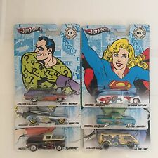 HOT WHEELS 2012 DC COMICS NOSTALGIA POP CULTURE SET OF 6