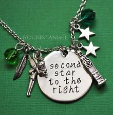 'Second Star To The Right' Tinkerbell, Peter Pan Pendant Necklace, Ladies Gift