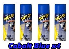 Performix Plasti Dip Cobalt Blue 4 Pack Rubber Coating Spray 11oz Aerosol Cans
