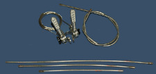 Vintage Shimano Shifters with Silver Cable Housing / Alloy Stem Shifters NEW!