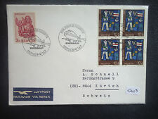 Switzerland 1971 Swiss Air Airmail First Flight B-747 (New York PMK Rear) Cover