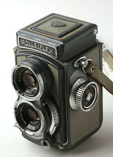 Rolleiflex Baby Grey 4x4 127 film with 60mm f3.5 Xenar lens & grey case