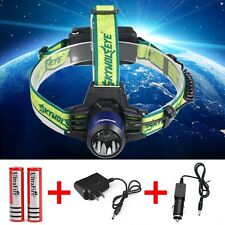 CREE 8000Lumen Headlamp XM-L T6 LED Headlight 18650 Flashlight +Battery*Charger