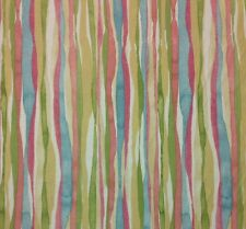 "WAVERLY JET SET PASTEL ABSTRACT STRIPE UPHOLSTERY CUSHION FABRIC 4.25 YARDS 54""W"
