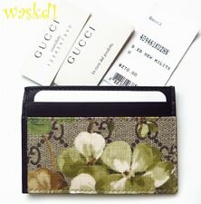 GUCCI Supreme canvas GG Blooms Card & Train Pass Case NIB Authen $270 GREAT GIFT