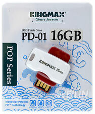 KINGMAX 16GB Blue USB 2.0 Flash Drive Thumb KEY 16G PD-01 POP