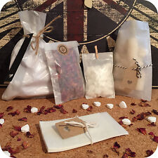 10x GLASSINE BAGS envelopes gift vintage wedding favour party sweets candy Mini