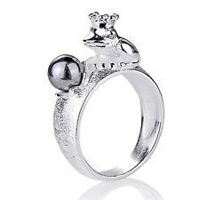 Frosch mit Perle Ring Gr. 58 Heartbreaker by Drachenfels LD FG 12 PW G Froggy