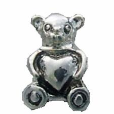 Kids Teddy Bear Heart Bead Fit Silver European StyleCharm Braceletsm416