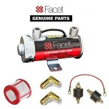 FACET SILVER TOP FUEL PUMP   200BHP CARBS + UNIONS + FILTER + EARTH MOUNTING KIT