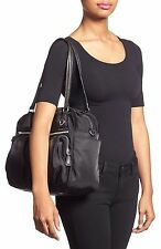MZ Wallace Roxy Bedford Nylon Shoulder Bag Tote Satchel Handbag Black Diaper bag