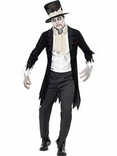 Costume Smiffy's Da Uomo Zombie Sposo Till Death Costume Halloween Taglia Media