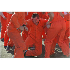 Justified Inmates Fighting in Jumpsuits 8 x 10 Inch Photo