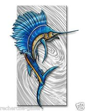 Metal Wall Art Contemporary Home Decor Abstract Wall Sculpture Sailfish 2