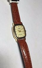 NOS 1990's Citizen Ladies Leather Watch Ref. EL0602-02P