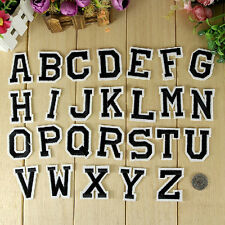 Letter A-Z Embroidered Iron On Patch Sew DIY 26pcs Applique Accessories