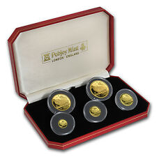 1997 Isle of Man 5-Coin Gold Long Haired Smoke Cat Set - SKU #92407