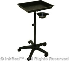 New InkBed Black Steel Tattoo Tray Removable Utility Cup Ink Bed Salon Equipment