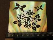 Brass/stencil/Oblong/floral/Butterfly/Chrysanthemum/emboss