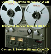 TASCAM BR-20  REEL TO REEL OWNERS & SERVICE MANUAL  CD FREE SAME DAY SHIPPING