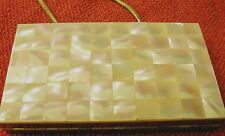 VINTAGE MOTHER OF PEARL PURSE COMPACT (BEAUTIFUL )