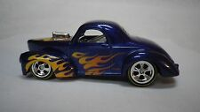 2016 Hot Wheels Blue 41 Willys Coupe Custom Real Riders