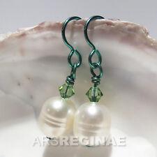 Hautfreundlich wie TITAN: NIOB. Große weiße echt Zucht Perlen Ohrringe