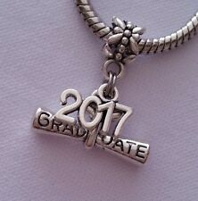 Graduate Diploma Graduation 2017 Dangle Bead For Silver European Charm Bracelet