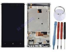 ECRAN LCD + VITRE TACTILE SUR CHASSIS COMPLETE POUR NOKIA LUMIA 925 BLANC ARGENT