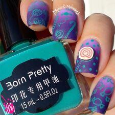 Born Pretty Blue-green Nail Art Stamping Polish Nail Stamp Varnish 15ml #18