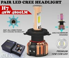 H7 LED CREE COB 48W 4800LM Headlight Kit  White Car Globes Bulbs 12V Lamp HID