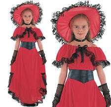 Childrens Scarlet O'Hara Fancy Dress Costume Gone With The Wind Outfit M