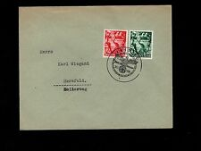 Nazi Germany 5 Years Hitler Set Leipzig 1 Day Only Cancel For Same 1938 Cover 1m