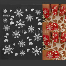 Ongle Stickers Flocons Neige Christmas Noël 3D Nail Art Décoration Autocollant