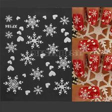 Ongle Stickers Flocons Neige Christmas Noël 3D Nail Art Décoration Autocollant