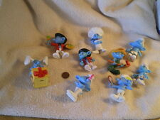 Peyo 2011 Smurfs Figurines, some with moveable legs & arms (9) for Mc Donalds